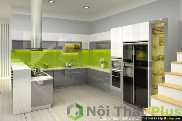 mẫu tủ bếp hình chữ U cho nội thất phòng bếp