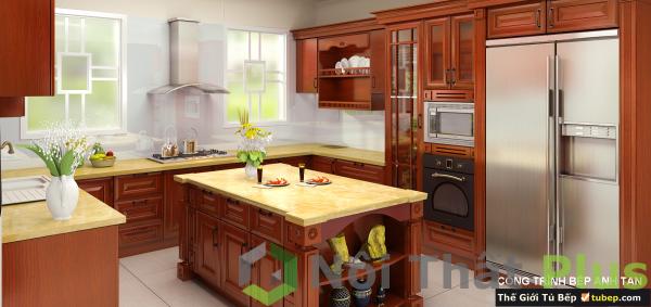 nội thất phòng bếp nhà anh tân sau khi hoàn thiện