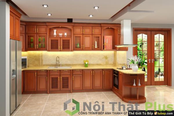mẫu nội thất phòng bếp tân cổ điển số 3