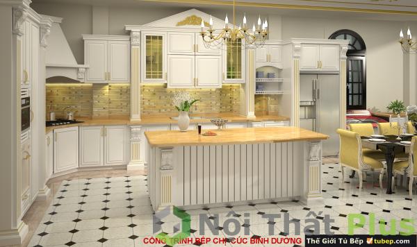mẫu thi công nội thất phòng bếp nhà chị cúc