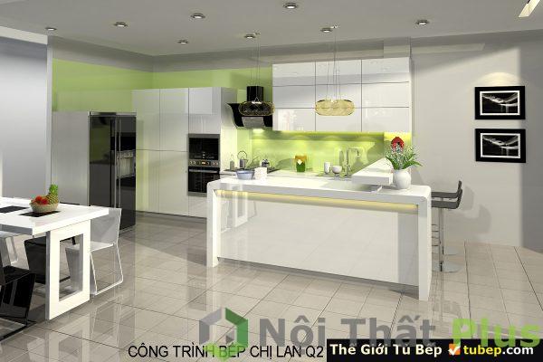 mẫu phòng bếp của nhà cô lan