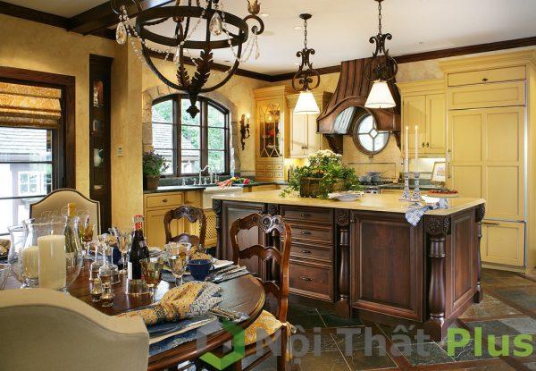 mẫu thiết kế bàn đảo cho phòng bếp cổ điển