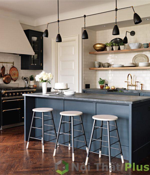 mẫu thiết kế nội thất phòng bếp cổ điển PBCD003