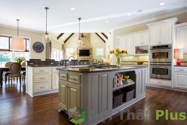 mẫu phòng bếp có bàn đảo PBCD009