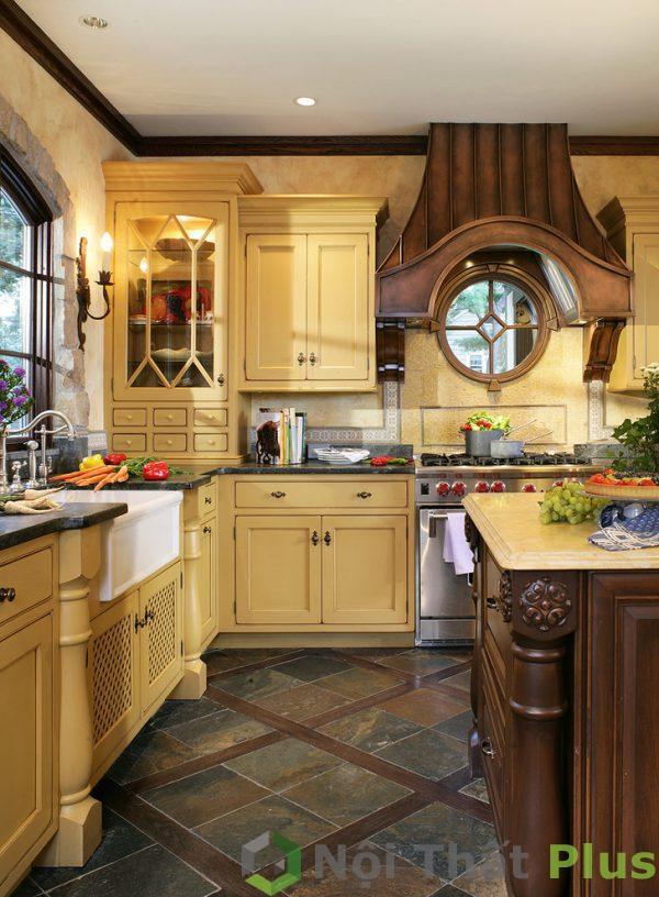 mẫu thiết kế nội thất phòng bếp cổ điển