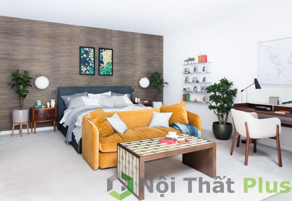mẫu thiết kế nội thất phòng ngủ rộng, thoáng mát