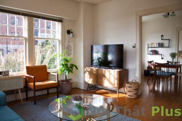 mẫu thiết kế phòng khách đơn giản đầy đủ tiện nghi PKD010
