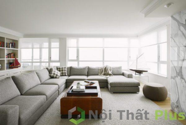 mẫu thiết kế nội thất phòng khách rộng rãi, thoáng mát