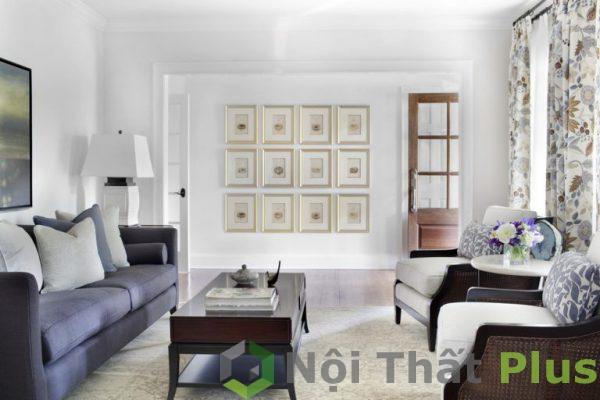 mẫu thiết kế phòng khách đẹp tiện nghi PKD007