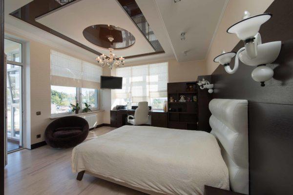 mẫu nội thất phòng ngủ cổ điển PNPLV004 nhìn từ trong ra ngoài