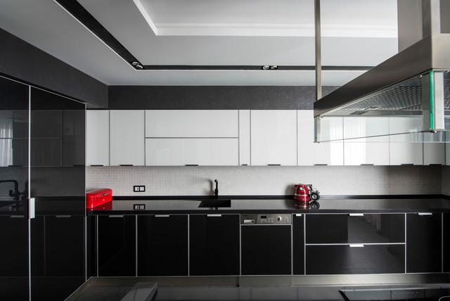mẫu tủ bếp Acrylic chữ L đẹp TBDA022