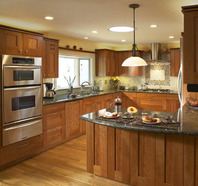 mẫu tủ bếp gỗ tần bì chữ G TBDTB052