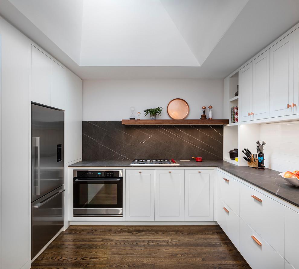 mẫu tủ bếp xoan đào hình chữ U TBDXD039
