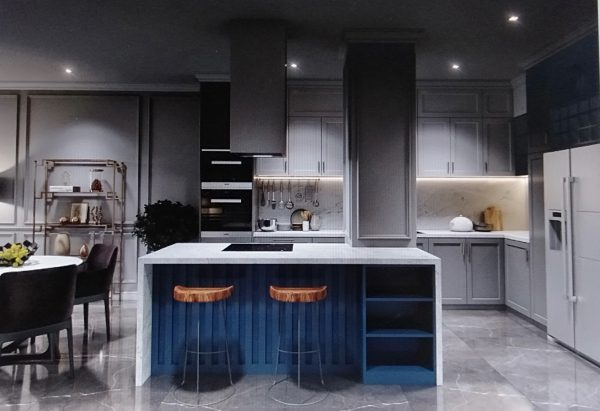 nội thất phòng bếp căn hộ chung cư hiện đại