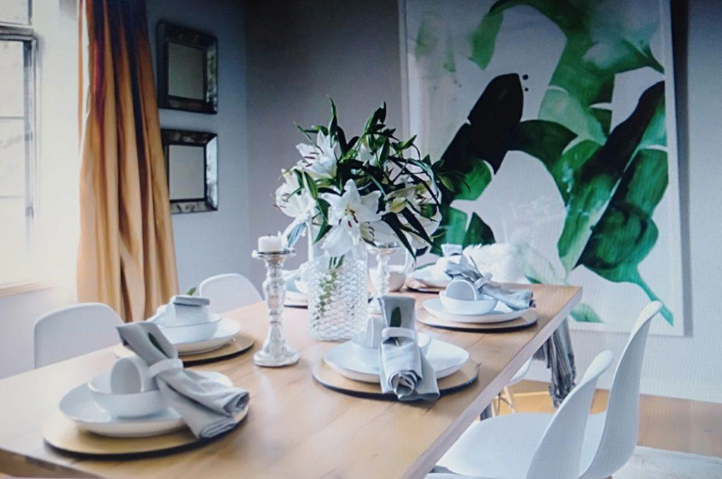 phòng ăn phong cách scandinavia cho căn hộ chung cư 80m2
