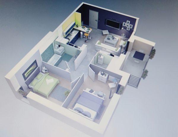 nội thất lãng mạn cho chung cư