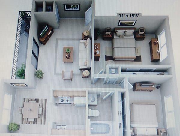 nội thất tây âu cho căn hộ 2 phòng ngủ