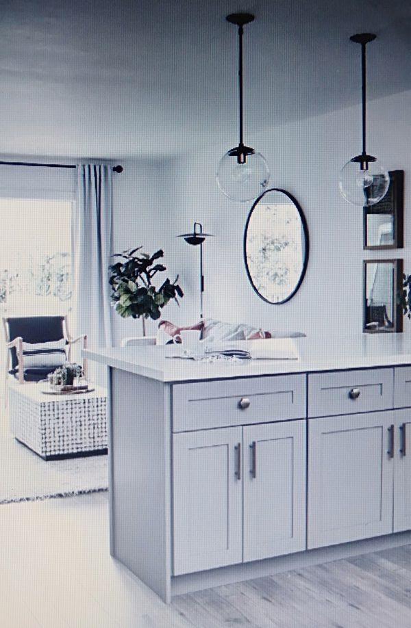 phòng bếp kiểu mở cho căn hộ chung cư 50m2