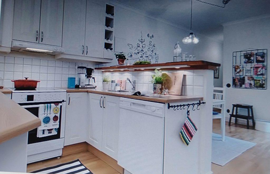 phòng bếp phong cách scandinavia cho căn hộ chung cư 80m2