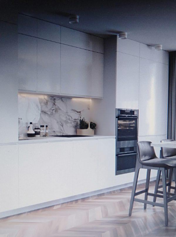 phòng bếp tiện nghi cho nội thất chung cư 50m2