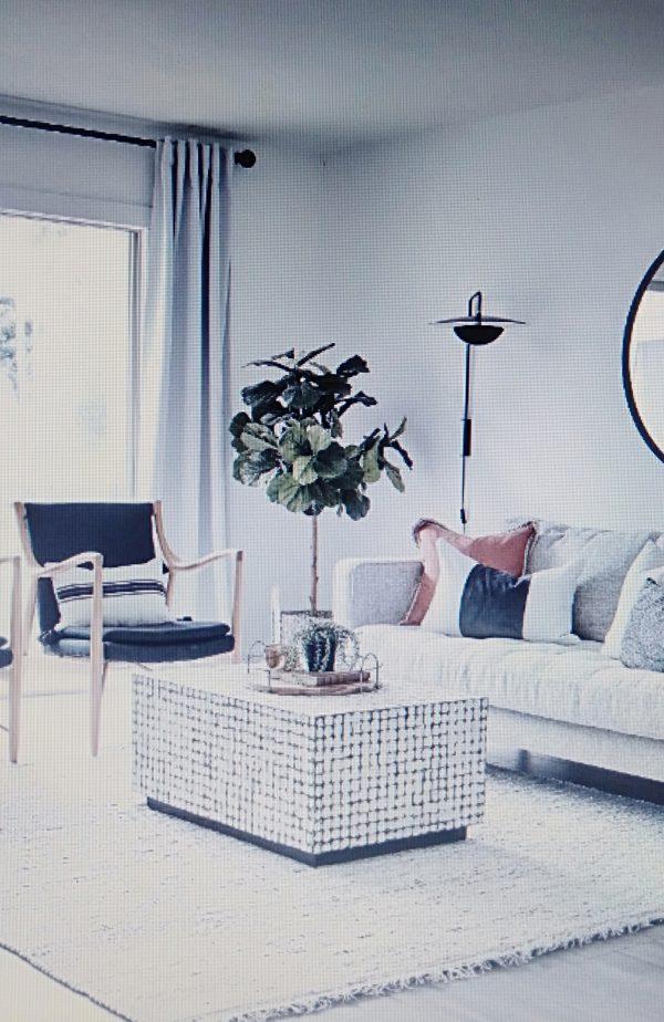 phòng khách tinh tế cho căn hộ chung cư 50m2