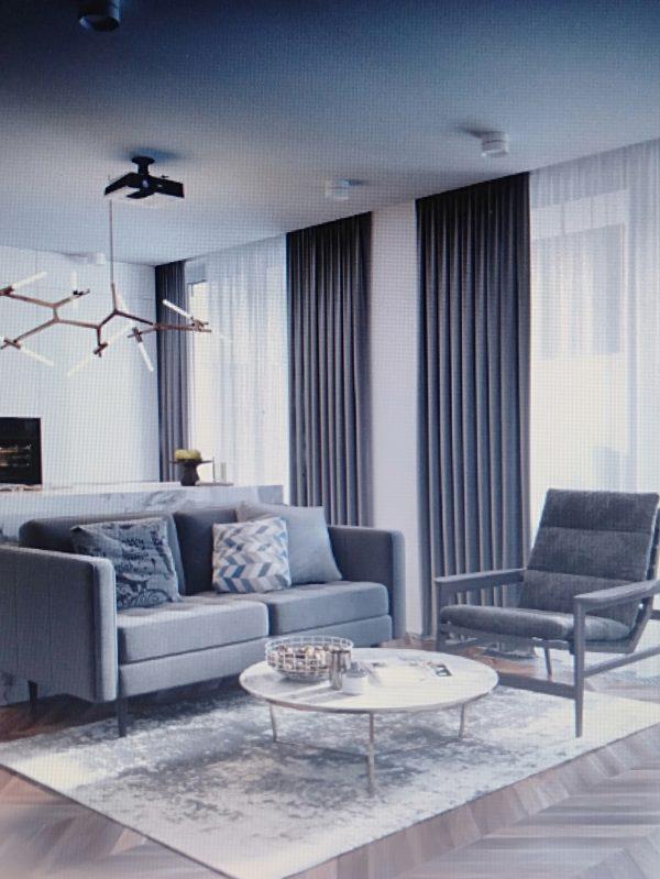 phòng khách hiện đại cho nội thất chung cư 50m2