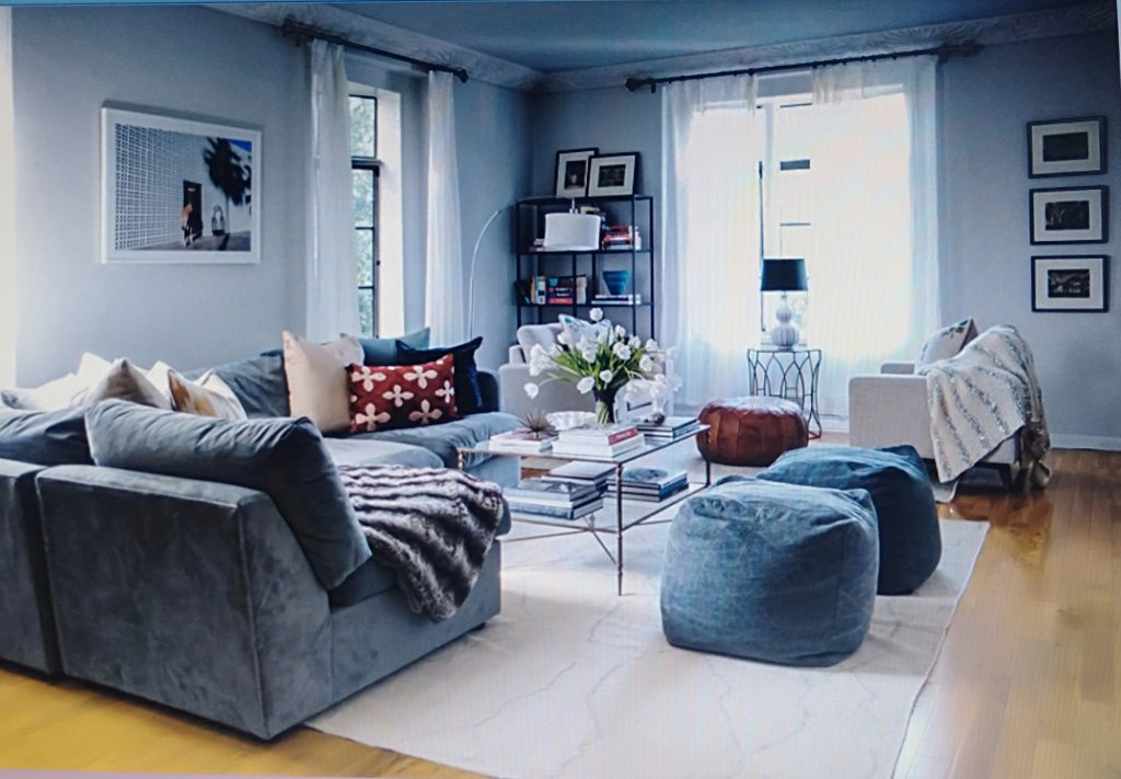 phòng khách phong cách scandinavia cho căn hộ chung cư 80m2