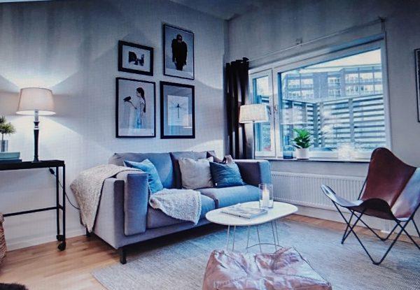 phòng khách đẹp tinh tế cho nội thất chung cư 50m2