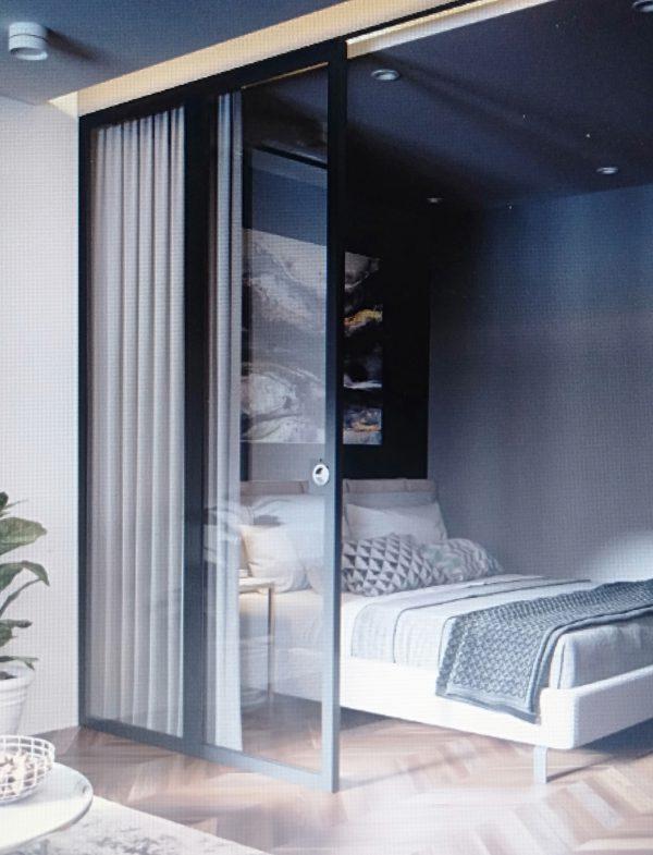 phòng ngủ tràn ngập ánh sáng cho nội thất chung cư 50m2