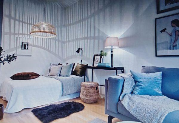 phòng ngủ tiện dụng cho căn hộ chung cư 50m2