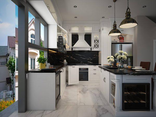 thiết ké tủ bếp cho căn hộ VinHomes Thăng Long Hà Nội