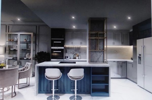 không gian nội thất phòng bếp chung cư