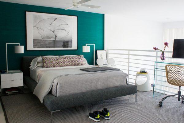thiết kế nội thất phòng ngủ hiện đại đơn giản PNTG003