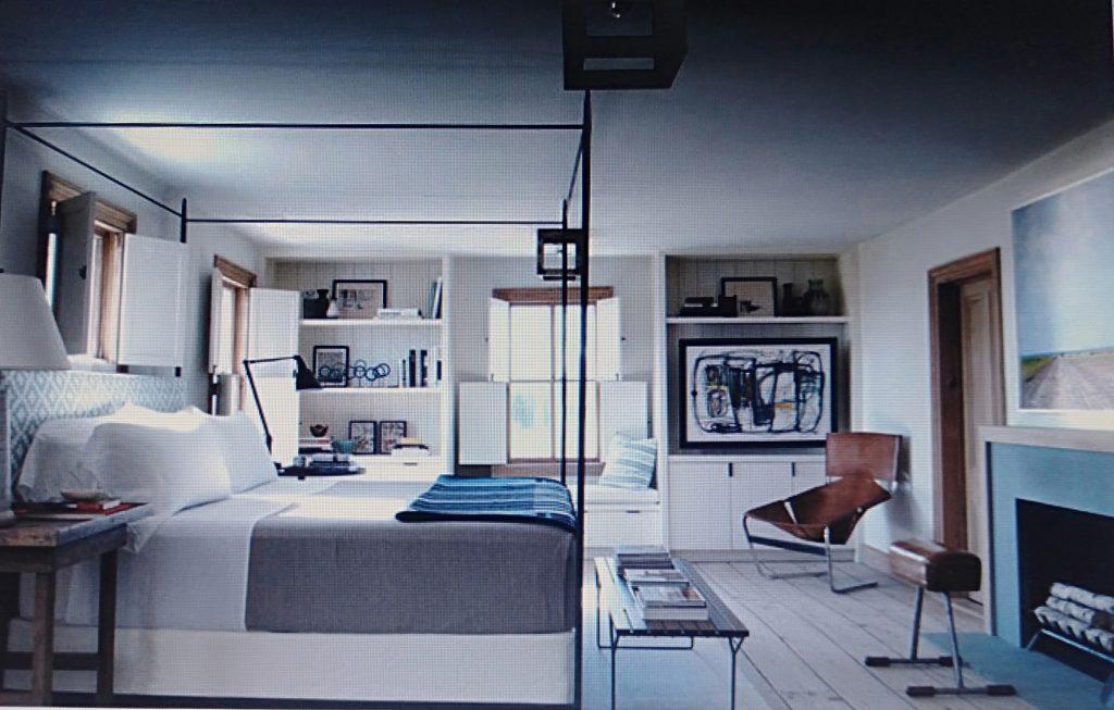 phòng ngủ và phòng làm việc phong cách á đông cho căn hộ chung cư 80m2