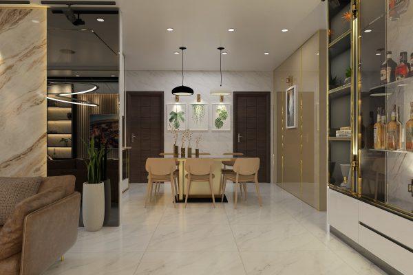 mẫu phòng ăn tại căn hộ cao cấp LanDMark