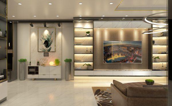 mẫu phòng khách tại căn hộ chung cư LanDMark