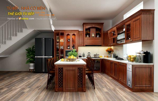 thiết kế tủ bếp cho nhà cô biên