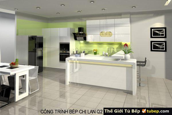 mẫu tủ bếp đầy đủ tiện nghi
