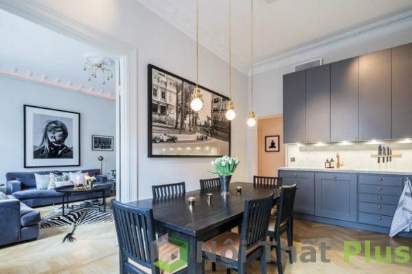 giá thiết kế phòng bếp mở