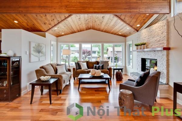 giá thiết kế thi công phòng khách sang trọng cho nhà phố