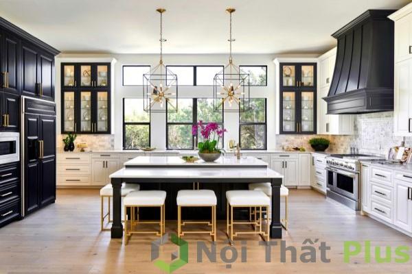 không gian phòng bếp đẹp cho nhà phố