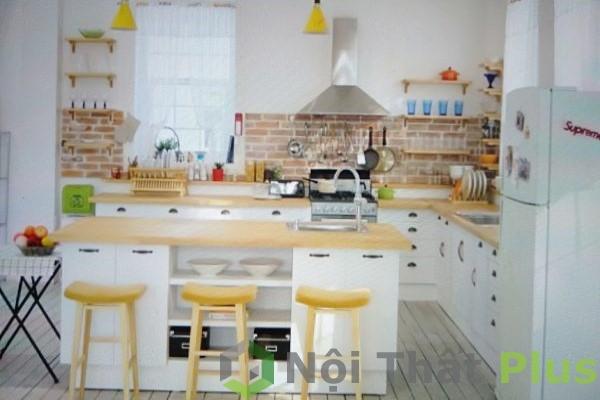 mẫu phòng bếp phong cách hàn quốc