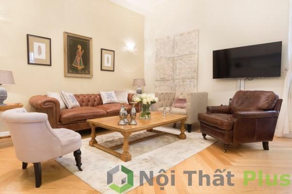 giá thiết kế thi công phòng khách tối giản cho chung cư 3 phòng ngủ