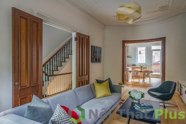 giá thiết kế thi công phòng khách đẹp cho nhà phố