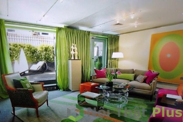 màu sắc đẹp cho nội thất phòng khách