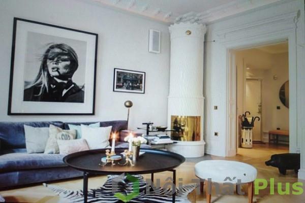 thiết kế phòng khách cho chung cư phong cách bắc âu