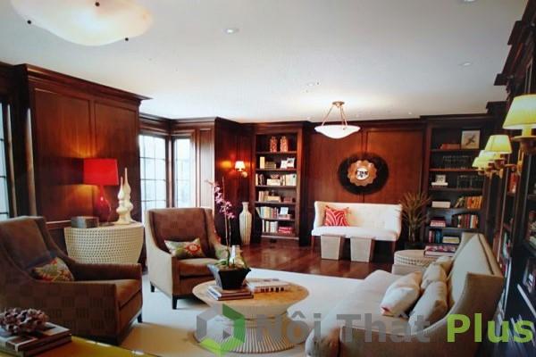 nội thất thiết kế phòng khách ấm áp