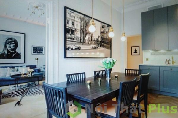 phòng bếp cho chung cư phong cách bắc âu