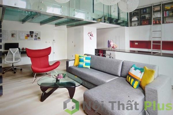 phòng khách đơn giản cho chung cư nhỏ
