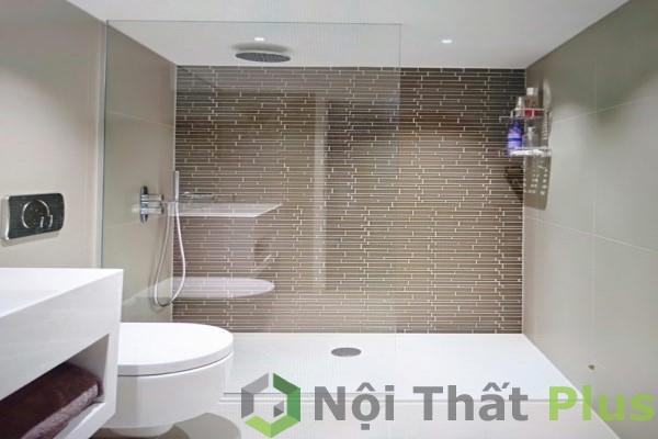 mẫu phòng vệ sinh phong cách tối giản